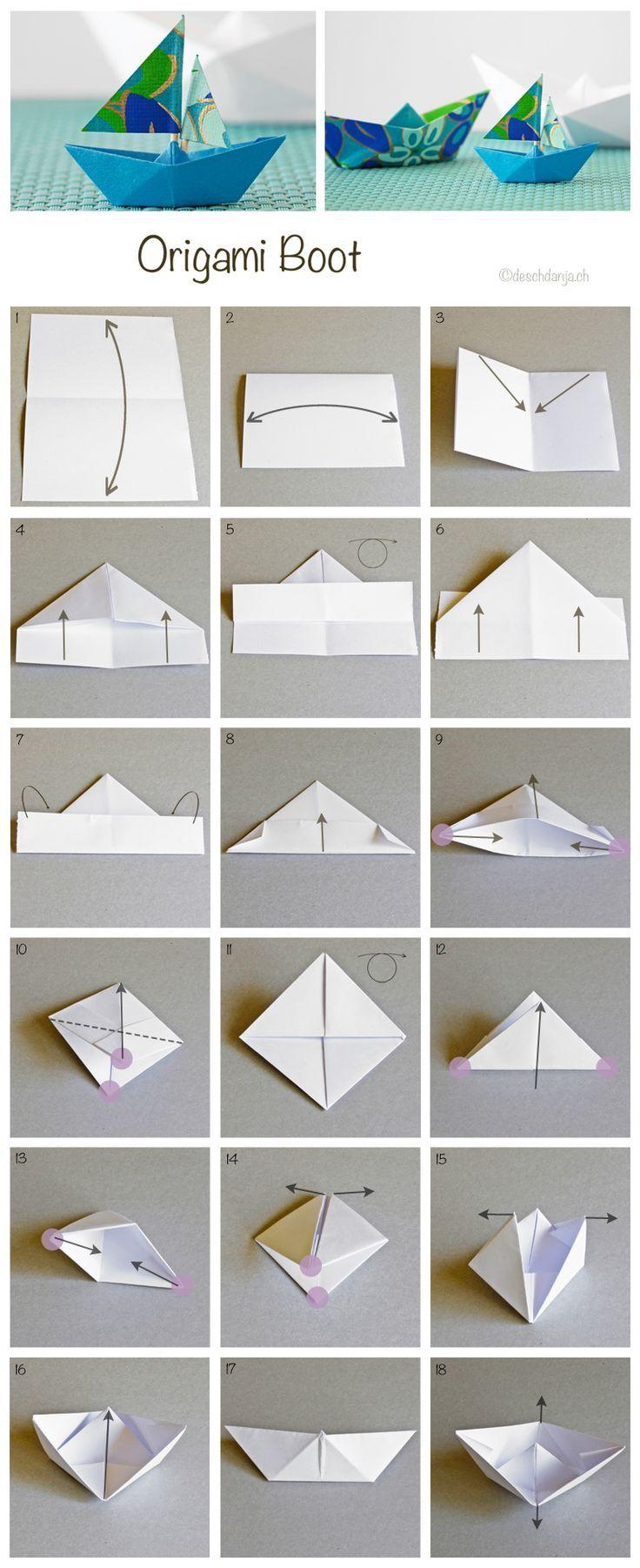 Origami de bateau, tutoriel de pliage de bateau pour enfant. Activité pour enfants pour les mamans ou les maîtresses d'école.  #origami #origamibateau #pliagebateau