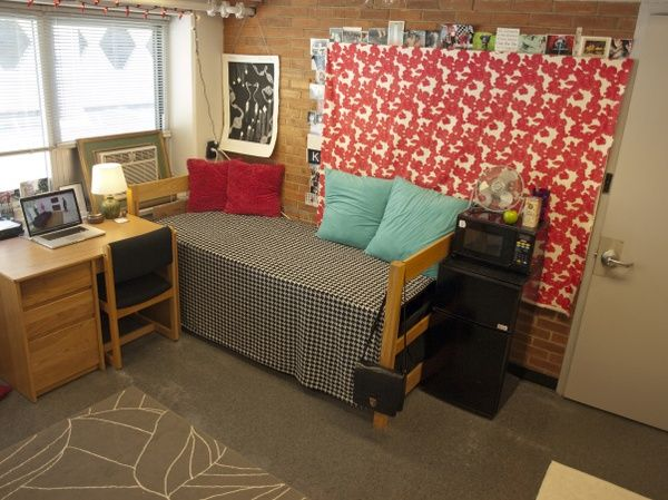I Think The Red Fabric Covers The Ugly Pinboard Like The Kind In Every Cal Dorm  Room! Part 56