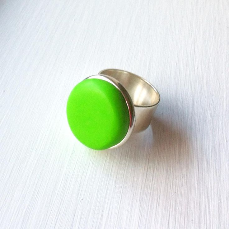 $25 Apple Green Halo Ring by Ashloc Designs on Handmade Australia www.hand-made.com.au/ashlocdesigns