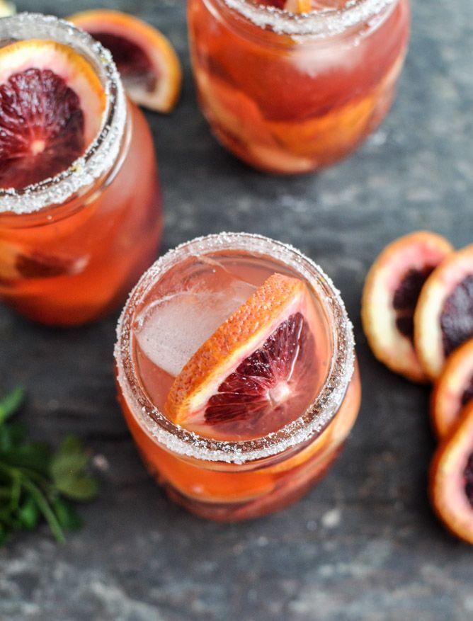 Blood Orange Sangria I howsweeteats.com