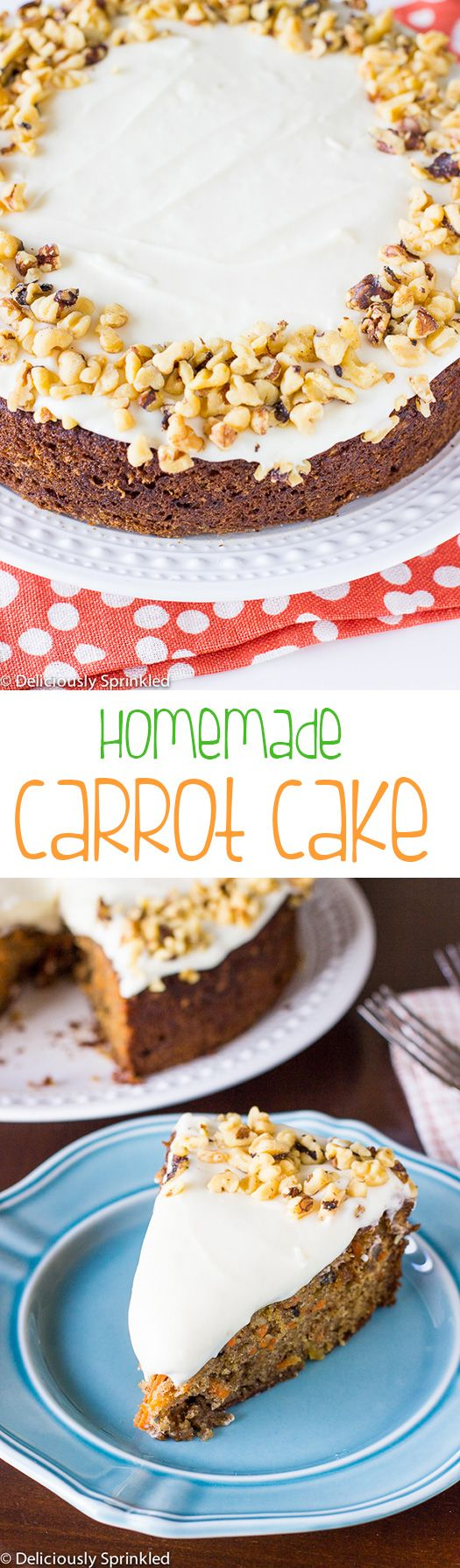 The BEST Homemade Carrot Cake