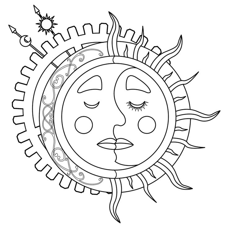 earth sun moon coloring pages - photo#20
