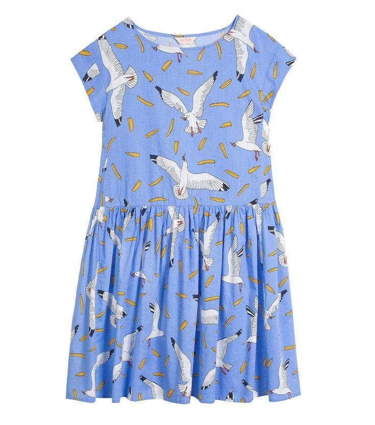 mine mine dress -cotton loose fit dress - gathered skirt - finishes above knee - gorman exclusive mine! mine! print