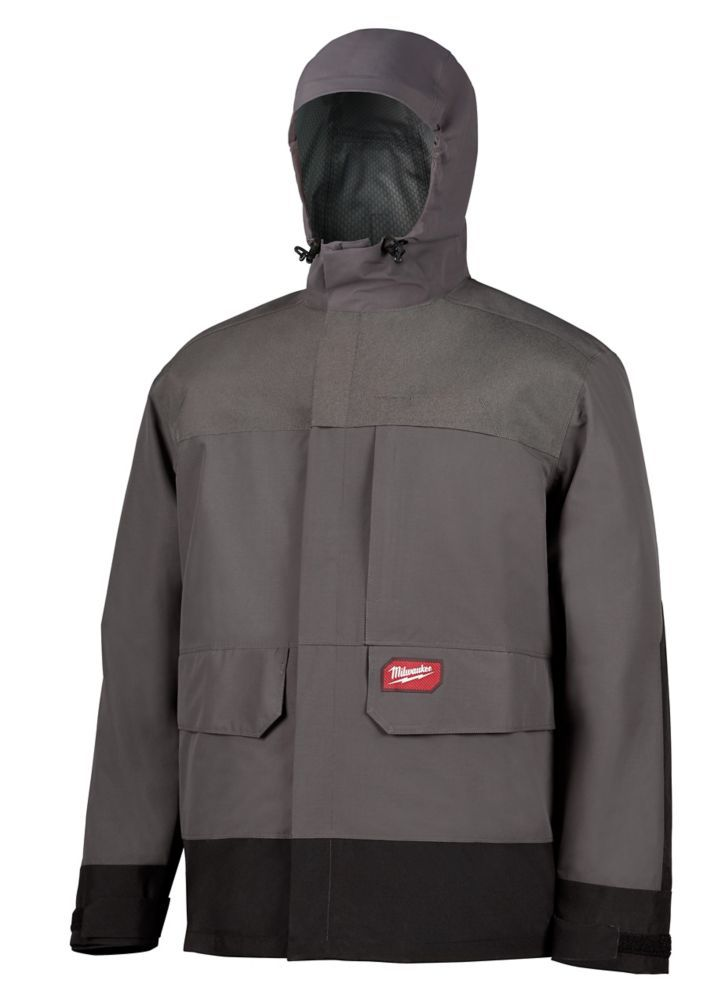 Men S Small M12 12v Lithium Ion Cordless Gray Heated Jacket Kit W 1 2 0ah Battery Charger Rain Shell Jackets Heated Jacket Rain Shell