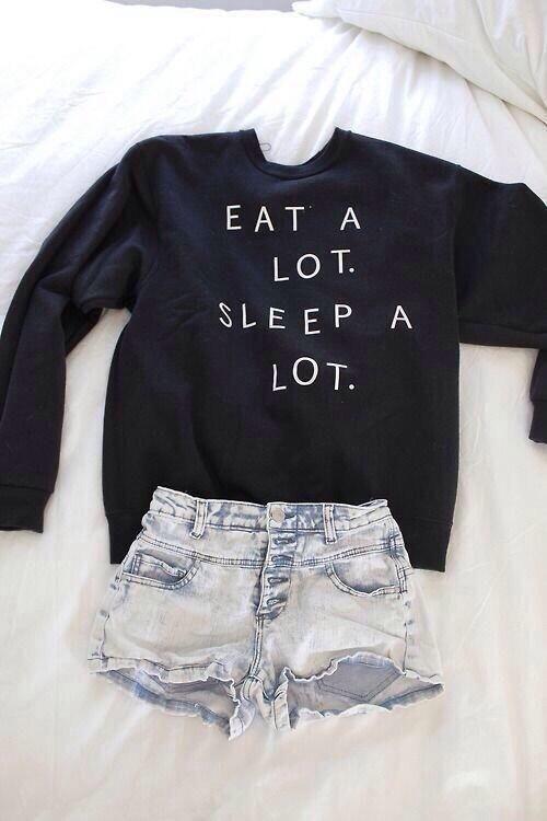 Eat a lot. Sleep a lot.