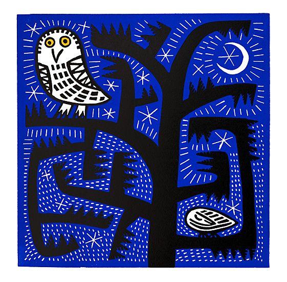 "Scottish Contemporary Art: ""Owl at Night""  Ian & Hilke MacIntyre"