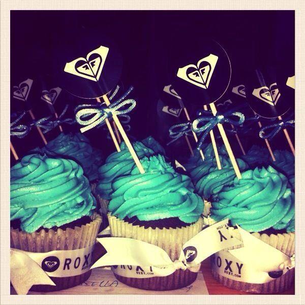 Cupcakes para la primera edición de shoping gauean en Donosti. Quiksilver .