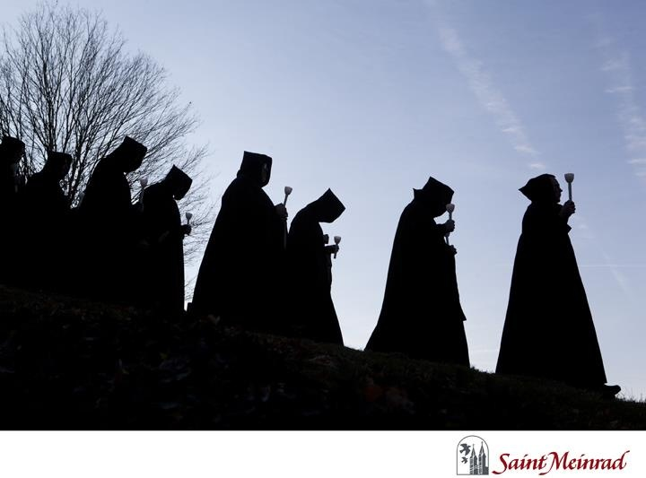 On All Souls Day, 2012, the monastic community made their annual procession to the cemetery to honor their deceased brethren.