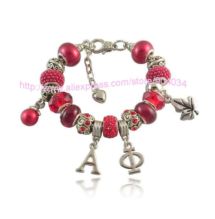 Customized  Alpha Phi Sorority  Bracelet Jewelry  greek bead charm bracelet  1pc free shipping
