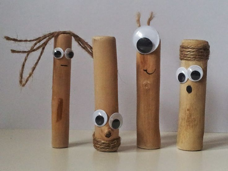 A Spoonful of Crafts: For børn: Sjove figurer af træpinde / For Kids: Funny People Made of Wooden Sticks