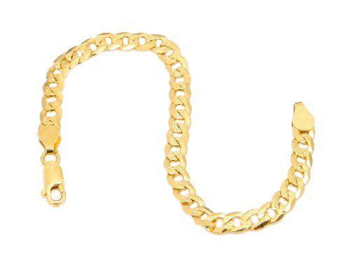 Panzerkette Silber – Ein Klassiker Armband Panzerkette in 18k Gold über plattiert 925 sterling silber Größe 17cm | Your #1 Source for Jewelr...