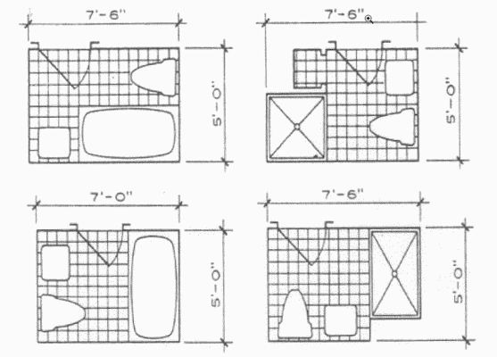 Bathroom Plumbing Layout Dimensions (With images) | Small ...