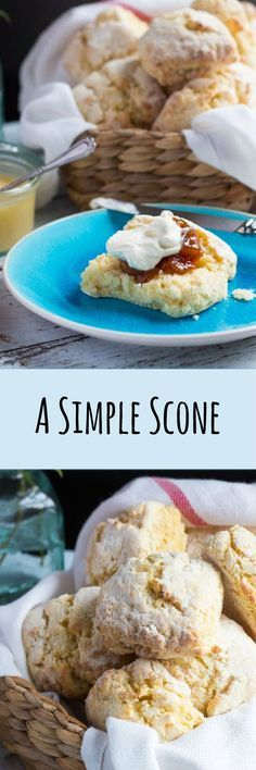 A Simple Scone Recipe. Easy to whip up for unexpected guests.