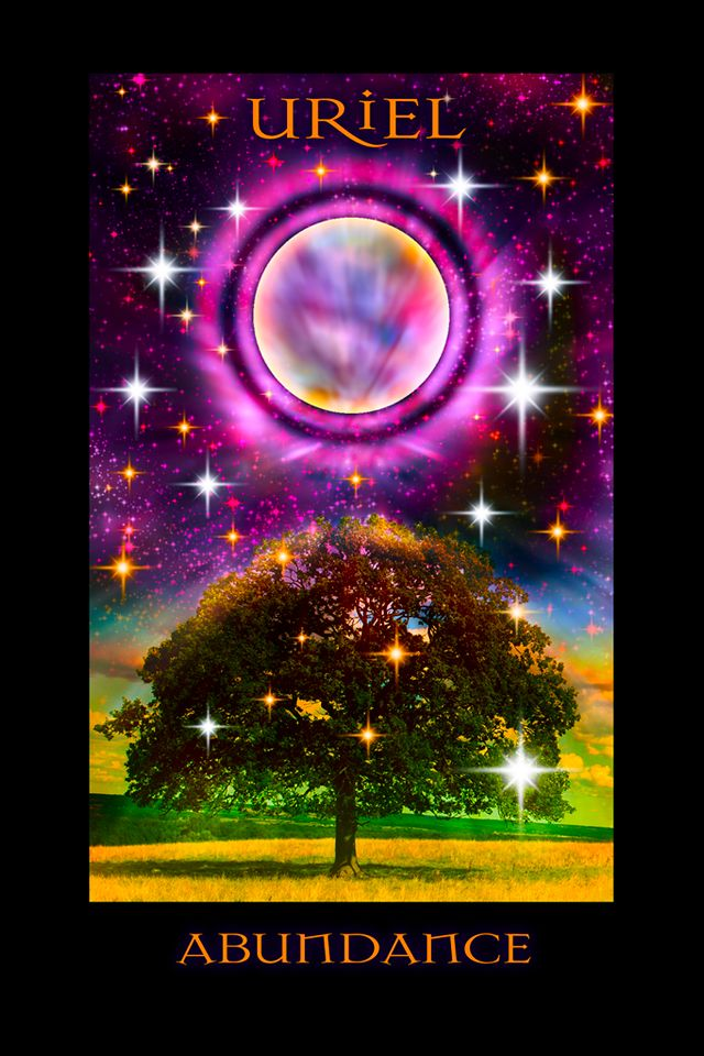 Archangel Uriel Oracle Of Abundance created by Stewart Pearce