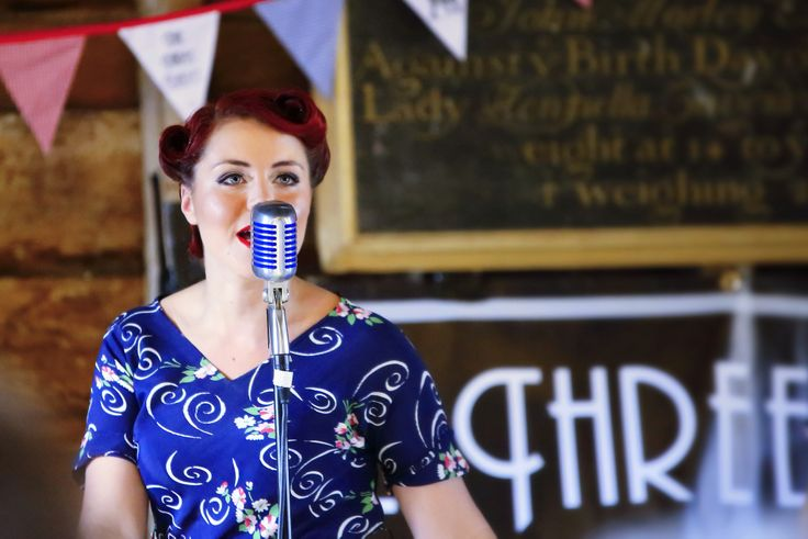 'Gail'...from 'The Three Belles'...1940's Trio, performing at Wimpole Hall 1940's event