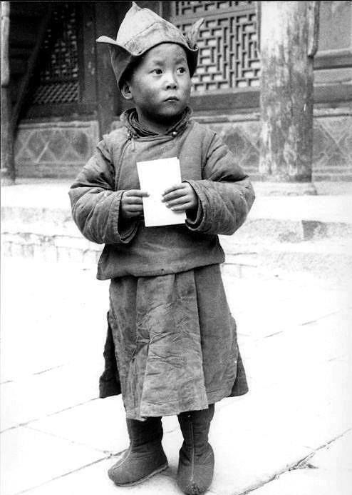His Holiness the 14th Dalai Lama in 1939 (the year of his formal recognition as the 14th Dalai Lama) (Tenzin Gyatso; born Lhamo Dondrub, 6 July 1935).