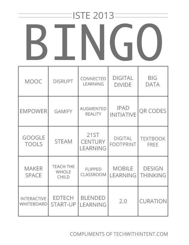 iste buzzword bingo 2013