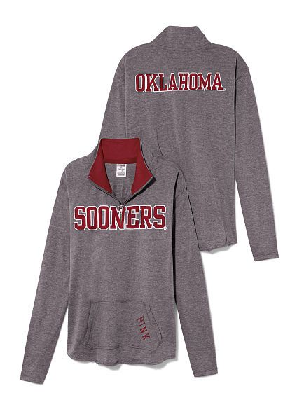 University of Oklahoma Raw Half-zip Pullover -- Must have this!!!