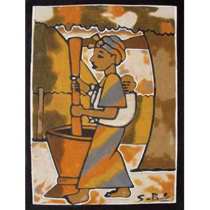 11 best african paintings images on pinterest africa art sand painting 10 x 13 995 each painting is created with different colors of sciox Image collections