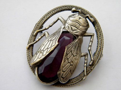 Antique Vintage Metal Buttons Victorian Jeweled Brass Gay 90 Rhinestone Insect   eBay