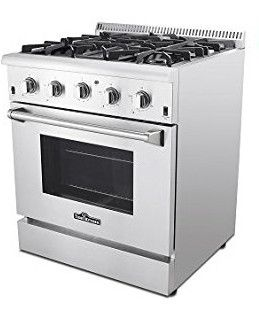LITTLE BIG LIFE: Great gas range oven for a small apartment, tis' freestanding and will move with you into your new home!