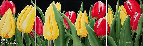 Dennis Magnusson, 'Tulip Grove', 24'' x 72'' | Galerie d'art - Au P'tit Bonheur - Art Gallery