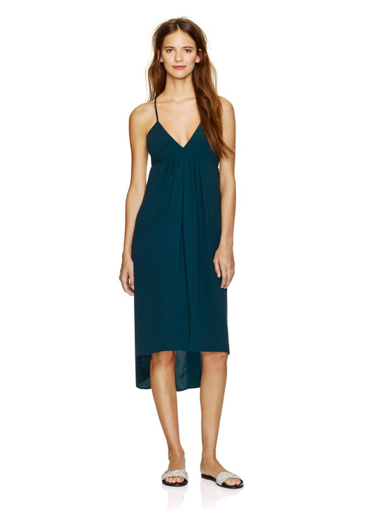 WILFRED COSIMO DRESS - A sexy, fluid dress in satin-back crepe from Japan