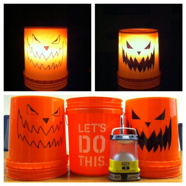 17 best images about homer bucket projects on pinterest for Home depot halloween decorations 2013