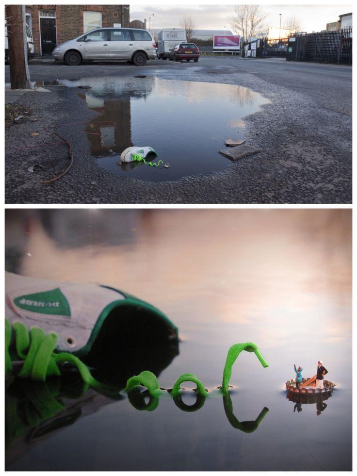 Slinkachu, Fantastic Voyage street installation, 2011