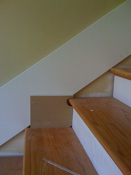 Even better idea--trace the outline of the stairs right ...