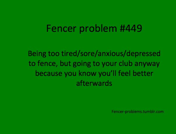 This is DEFINITELY how my son is.. he had just gotten over the flu and had to fence.. refused to stop. DETERMINATION