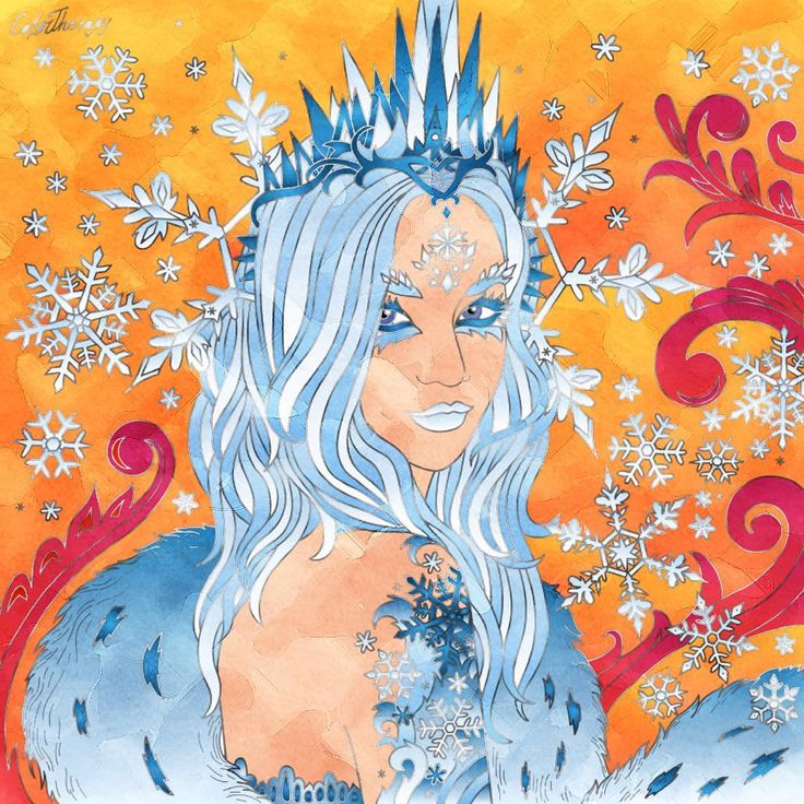 "17 Likes, 1 Comments - Alana Pacheco (@alanap77) on Instagram: ""#fireandice #icequeen #icevsfire #winterqueen #queenofwinter #hellhere My Artwork Made by…"""