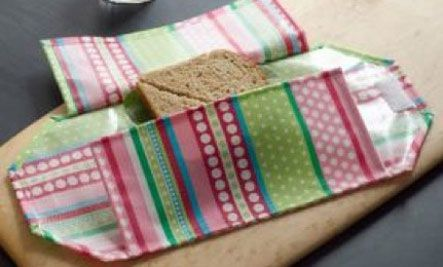Pack School Lunches With DIY Eco-Love by Ronnie Citron-Fink on Care2 - There's a sandwich wrap and a lunch mat.  Crazy cute and awesome. :)Sandwiches Wraps, Crafts Ideas, Bags Tutorials, Betz White, Schools Lunches, Lunches Bags, New Book, Sandwiches Bags, Reusable Sandwiches