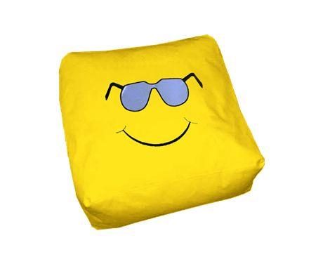 Πουφ Μαξιλάρι 45 x 45 Smile#Πουφ Poofomania #bean bag#kentima#pouf#poof#