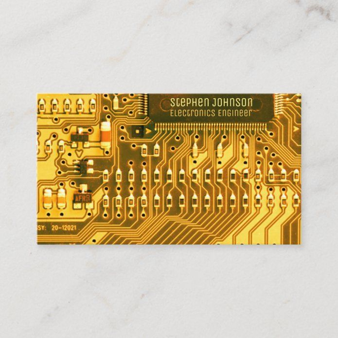 Gold Pcb Printed Circuit Technology Engineering Business Card Tap Personalize Buy Right Now Businesscard Geek Pcb Boa