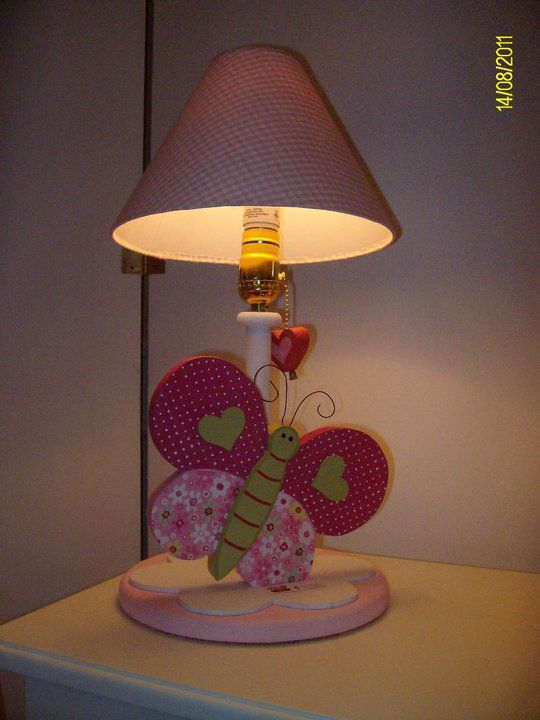 Butterfly lamp for kids decor