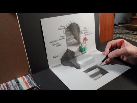 Anamorphic Drawing a 3D Zebra, Trick Art on Paper - YouTube