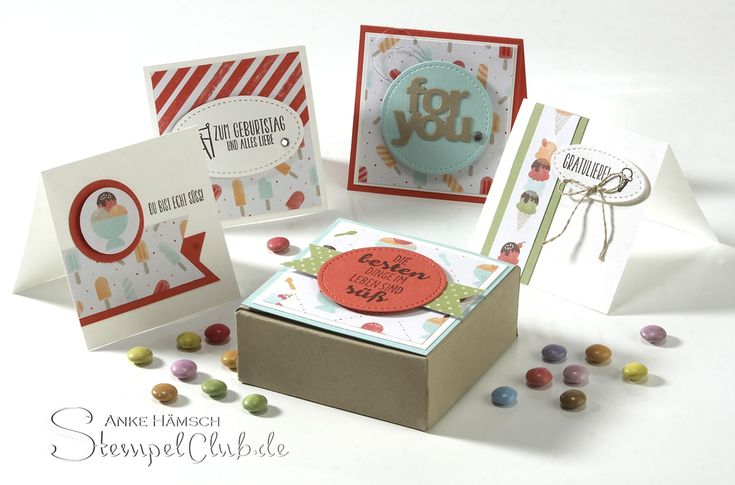 Minicards in a box, Minikarten in Envelope Punchboard Box, #saleabration #stampinup