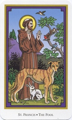 St. Francis (Fool) from the Tarot of the Saints
