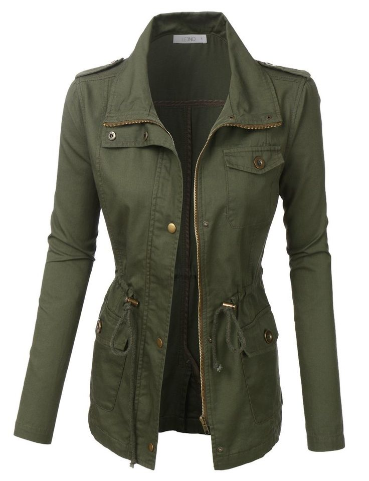 Military Jackets for Women A military look can be protective when out for a hike with rugged gear or offer fashionable styling when walking the city streets. Women have an array of choices in military and military-style jackets, whether you're looking for authentic army surplus or a high-end, silky feel.