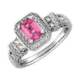 Pink Sapphire and Diamonds, Vintage Design