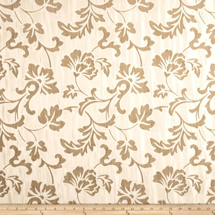 Fabricut Anticipated Chenille Cream from @fabricdotcom  This lovely chenille fabric is  perfect for valences, toss pillows, and upholstery projects like ottomans and headboards.