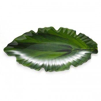 Zen Large Green Leaf Platter