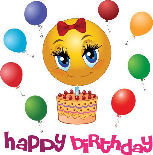 Поздравления к дню рождения со смайликами