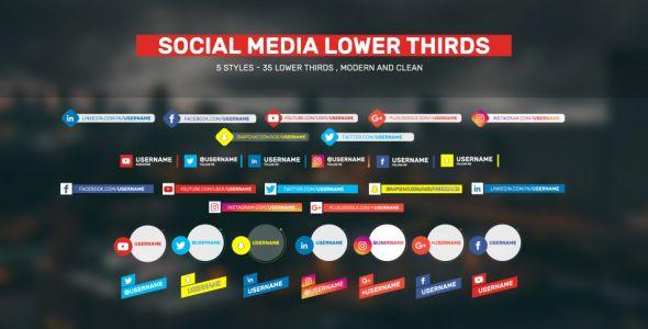 Social Lower Thirds by AeMar 35 Clean Lower Thirds