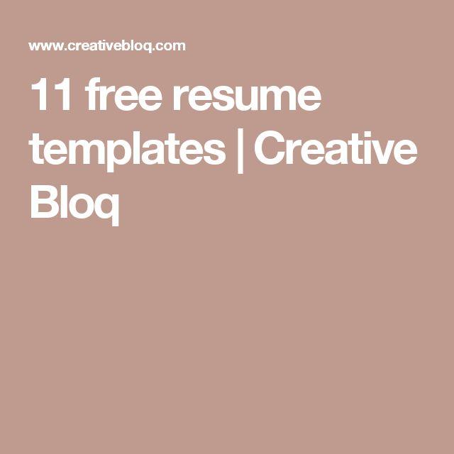 11 free resume templates | Creative Bloq