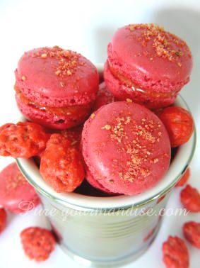 macaron macarons aux pralines roses recette pure gourmandise puregourmandise