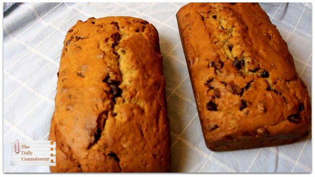 Chocolate Chip Banana Bread 2 Loaves Jennifer L Scott The Daily Connoisseur Chocolate Chip Banana Bread Banana Bread Banana Chocolate Chip