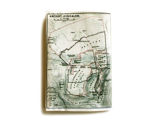 Jerusalem Map Passport Cover printed with the map of by efratul