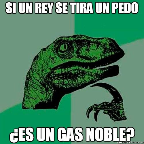 Gas noble!?